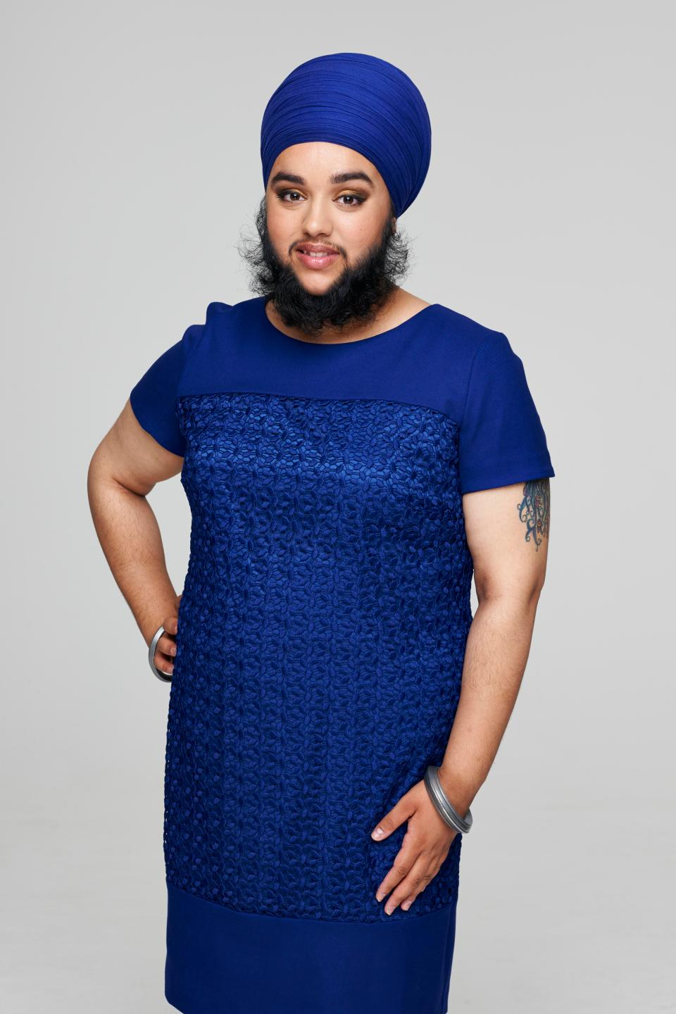 Harnaam Kaur, England's most publicized bearded woman-blind maiden - 1