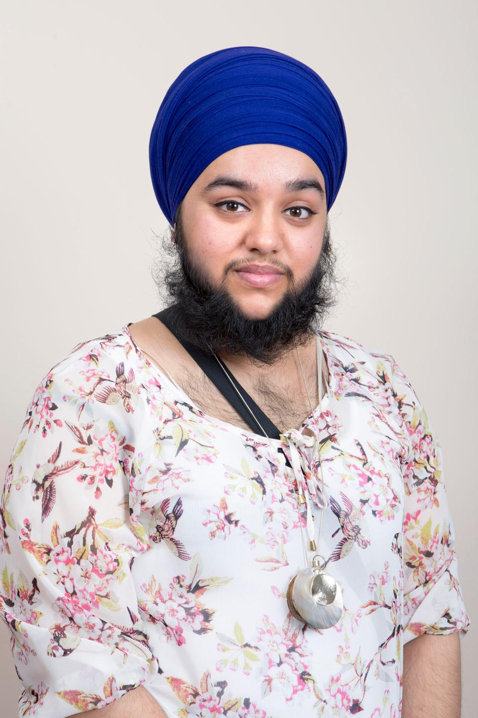 Harnaam Kaur, England's most publicized bearded woman-blind maiden - 2